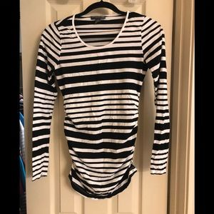 Pea in a pod striped maternity shirt